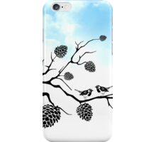 Birds on a tree branch iPhone Case/Skin