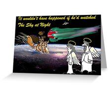 Christmas meteorite showers Greeting Card