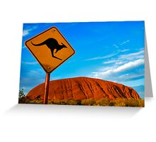 Uluru and a Kangaroo Greeting Card