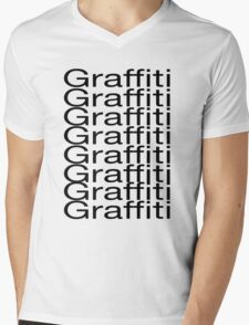 MORE GRAFFITI Mens V-Neck T-Shirt