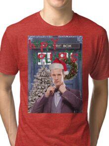 Dr. Eleventh Xmas Tri-blend T-Shirt