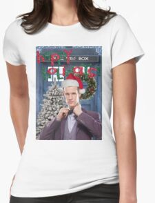 Dr. Eleventh Xmas Womens Fitted T-Shirt