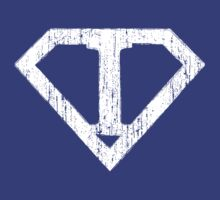 I letter in Superman style by Stock Image Folio