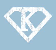 K letter in Superman style Kids Tee