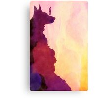 Peering Off From Dog Mountain Canvas Print