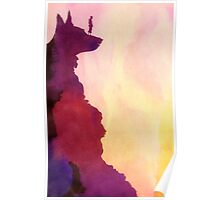 Peering Off From Dog Mountain Poster