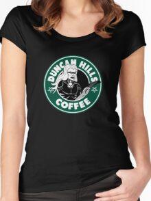 Duncan Hills Coffee (Skwisgaar) Women's Fitted Scoop T-Shirt