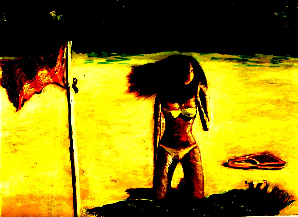 Beach Girl in Yellow by RobMehigan