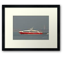 Red Jet 3 leaving Cowes Framed Print