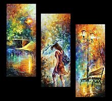 Aura of Autumn (Set of 3 paintings) — Buy Now Link - www.etsy.com/listing/130242920 by Leonid  Afremov