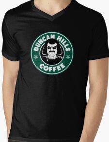 Duncan Hills Coffee (Murderface) Mens V-Neck T-Shirt