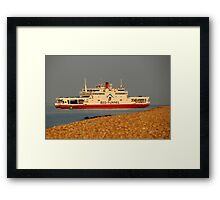 Red Falcon leaving Cowes Framed Print