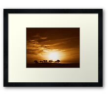 The Flame of my Love's Candle Framed Print
