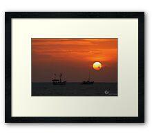 A Tranquil Sunset  Framed Print