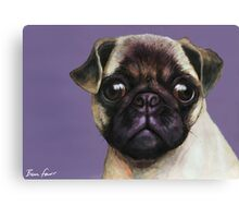 Pug Painting Canvas Print
