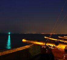 Royal Yacht Squadron at Night by Jonathan Cox