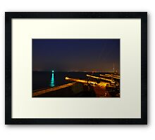 Royal Yacht Squadron at Night Framed Print