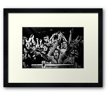A Lively Bunch Framed Print