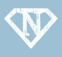 N letter in Superman style One Piece - Short Sleeve
