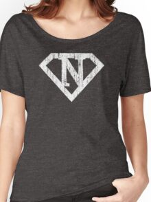 N letter in Superman style Women's Relaxed Fit T-Shirt