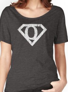 Q letter in Superman style Women's Relaxed Fit T-Shirt