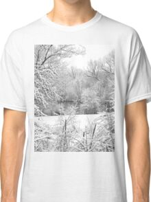 Winter Snow At Huron River Classic T-Shirt