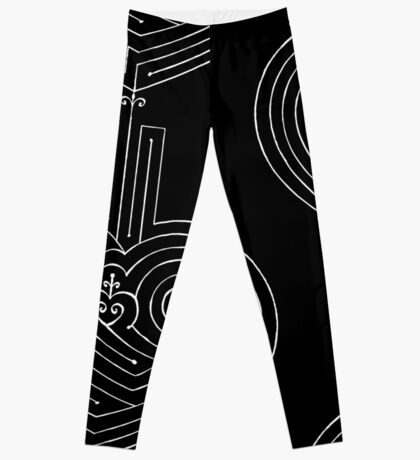 Love is a Labyrinth (Black & White Edition)  Leggings