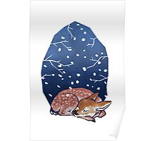 Sleeping Fawn Poster