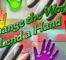 Change The World Sticker
