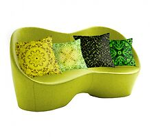 Green-yellow pillows by FireFairy