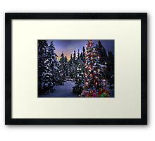 Way Outdoor Christmass Lights Framed Print
