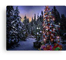 Way Outdoor Christmass Lights Canvas Print