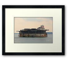 No Man's Land Fort Framed Print
