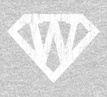 W letter in Superman style One Piece - Long Sleeve