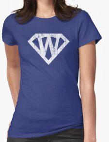 W letter in Superman style Womens Fitted T-Shirt