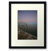 Merewether Baths at Dusk 7 Framed Print