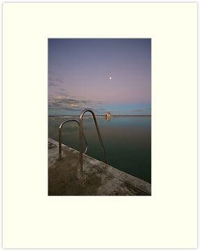 Merewether Baths at Dusk 7 by Mark Snelson