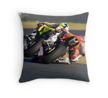 Towing the Line - Superbikes Throw Pillow
