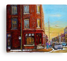 CANADIAN ARCHITECTURE MONTREAL CITY SCENES PAINTINGS BY CANADIAN ARTIST CAROLE SPANDAU Canvas Print