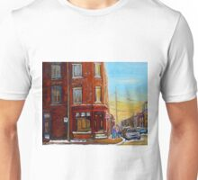 CANADIAN ARCHITECTURE MONTREAL CITY SCENES PAINTINGS BY CANADIAN ARTIST CAROLE SPANDAU Unisex T-Shirt