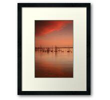 Sunset- Lake Wollumboola #5 Framed Print