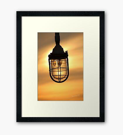 Lamp Sunset Framed Print