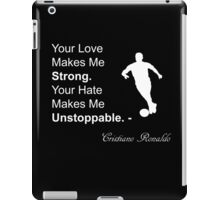 Cristiano Ronaldo Quote iPad Case/Skin