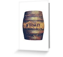 Rustic American Whiskey Barrel Greeting Card