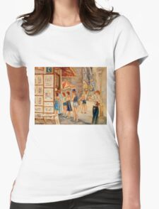 OLD MONTREAL PAINTINGS CANADIAN ART BY CANADIAN ARTIST CAROLE SPANDAU Womens Fitted T-Shirt