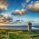 Doolin Castle Sunset Landscape County Clare Ireland by Noel Moore Up The Banner Photography