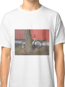 Bike and Red Fence Classic T-Shirt