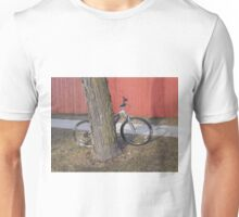 Bike and Red Fence Unisex T-Shirt