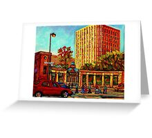 PAINTINGS OF MCGILL UNIVERSITY CANADIAN CITY SCENES BY CANADIAN ARTIST CAROLE SPANDAU Greeting Card