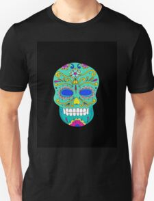 Sugar skull mexican folk art Unisex T-Shirt